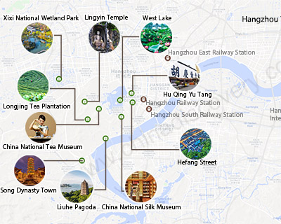 Maps of Hangzhou Downloadable and Detailed West Lake Map