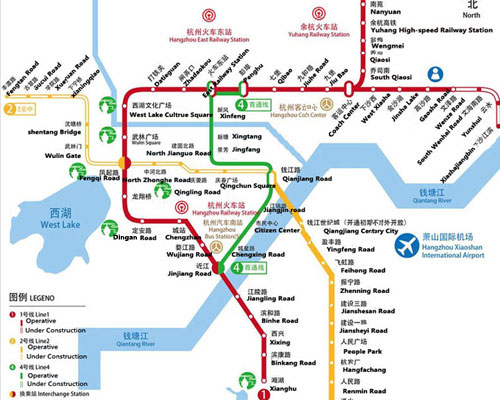 Subway Map D Train.Beijing Hangzhou Train Route Maps Length Stations And Tours