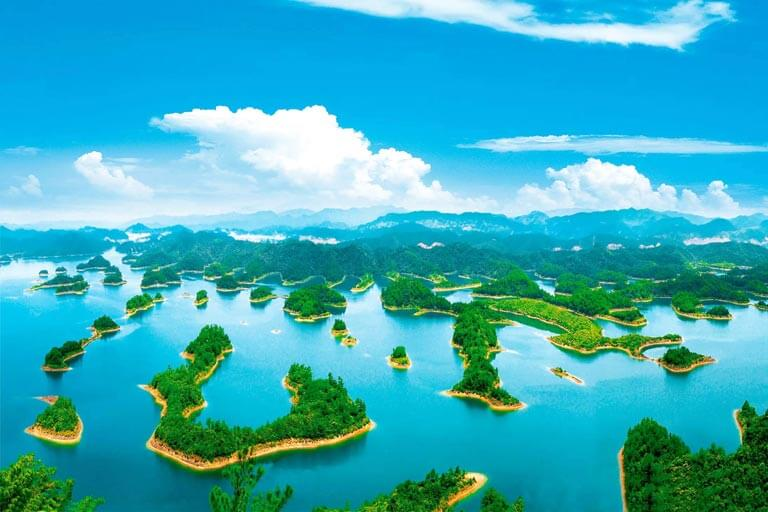 Qiandao Lake Full View from Huangshanjian