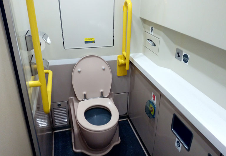 Barrier-free Washroom on China High Speed Train