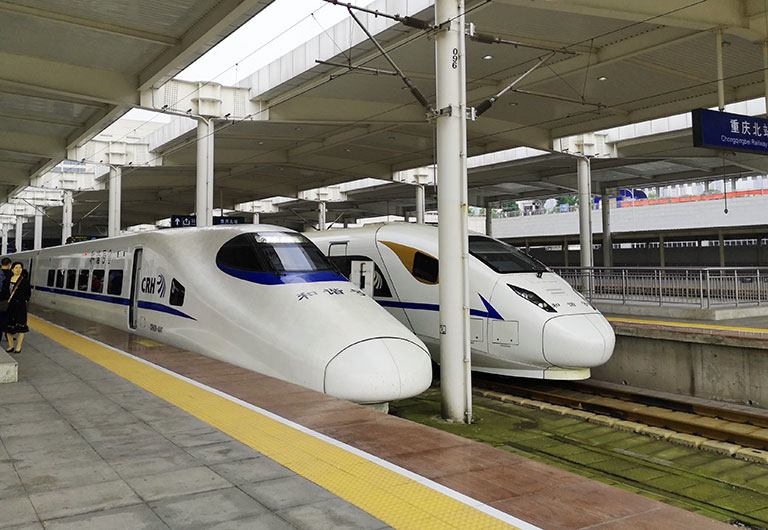 D Class High Speed Trains in Chongqing