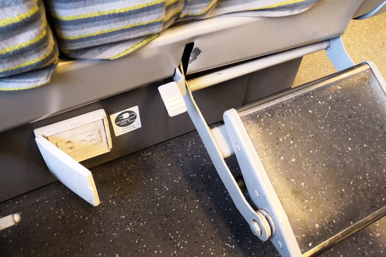 China Bullet Train First Class Seat - Footrest