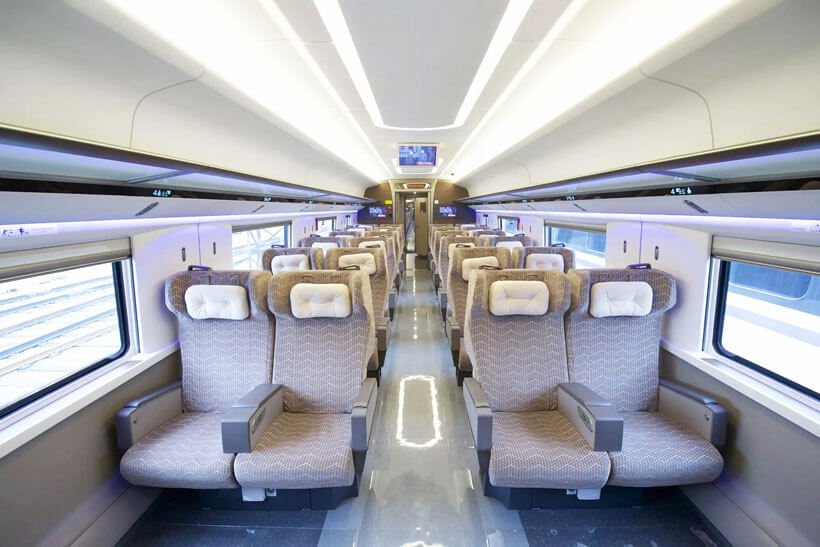 China Bullet Train First Class Seat