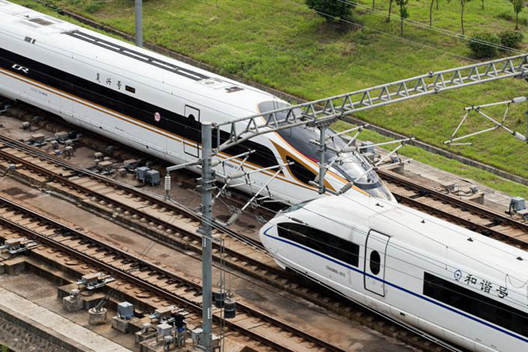 Fuxing high speed train and Hexie Train in China