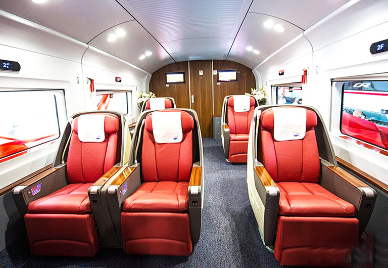 Business Class Seat on High Speed Train