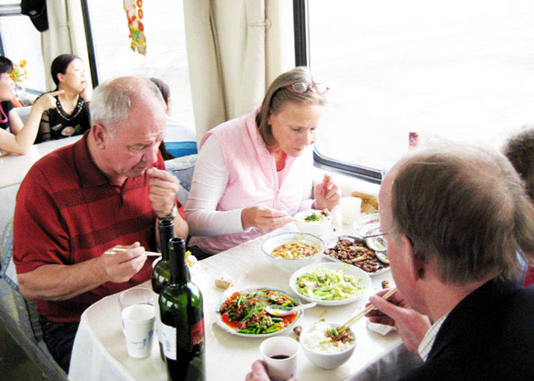 Meals in Dining Car of Regular Train