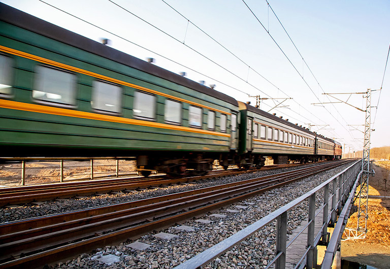 Regular Train (Green Train) in China