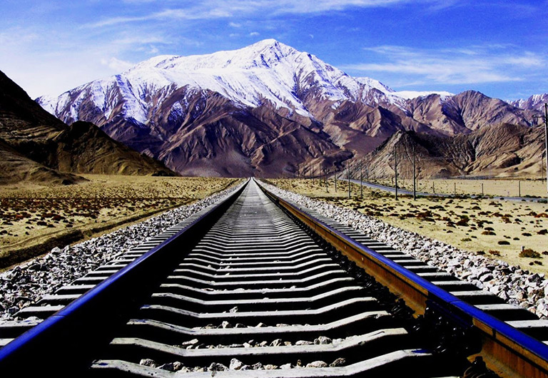 Qinghai Tibet Railway in China