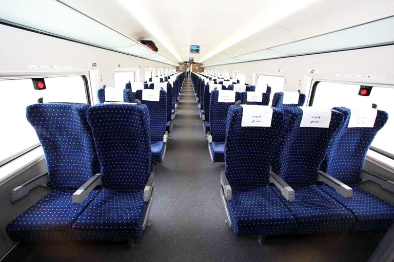 Second Class Seat on Bullet Train