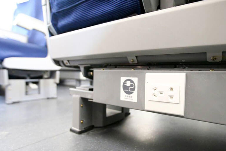 China Bullet Train Second Class Seat - Socket