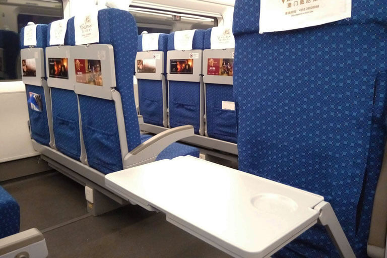 China Bullet Train Second Class Seat - Tray Table