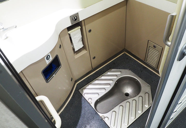 Squat Toilet on China High Speed Train