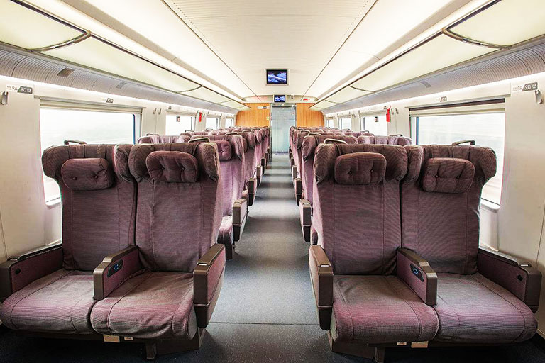 First Class Seat on China High Speed Train