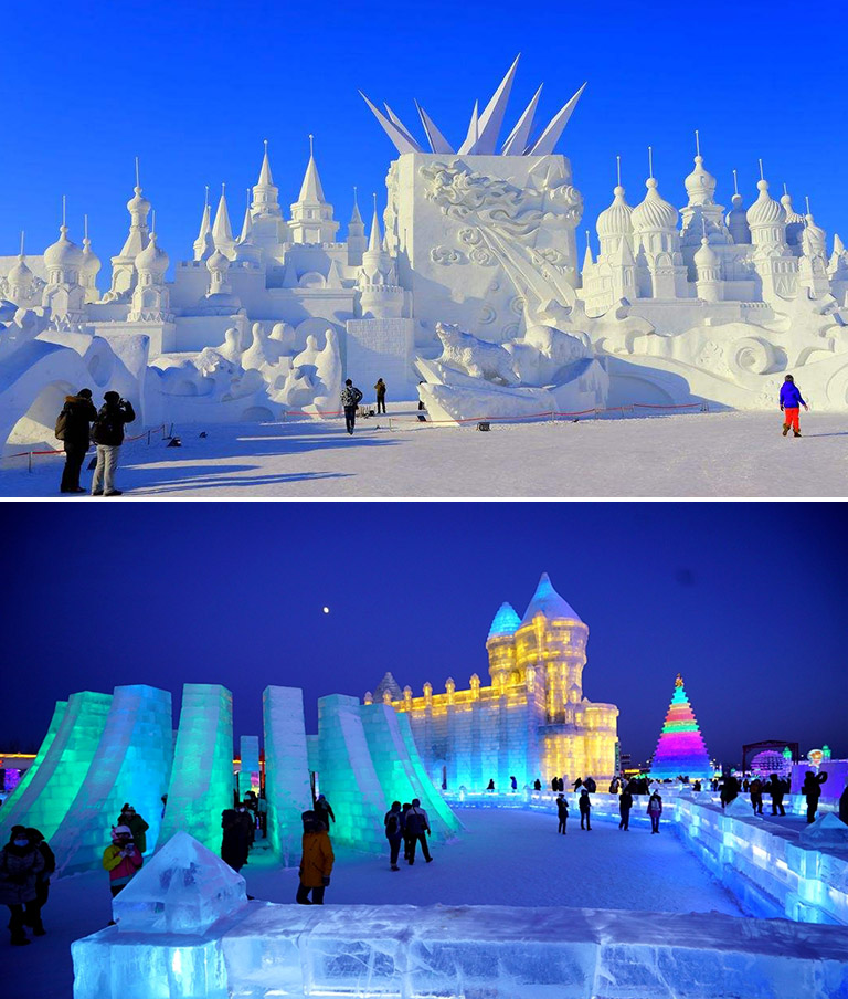 Winter Festival 2020.Having Fun On The 2020 36th Harbin Ice And Snow Festival