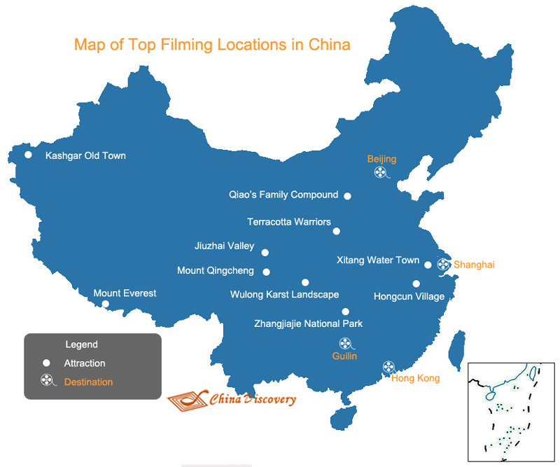 China Map - Map of China Filming Locations
