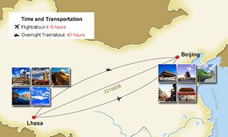 Beijing Tibet Tours Map
