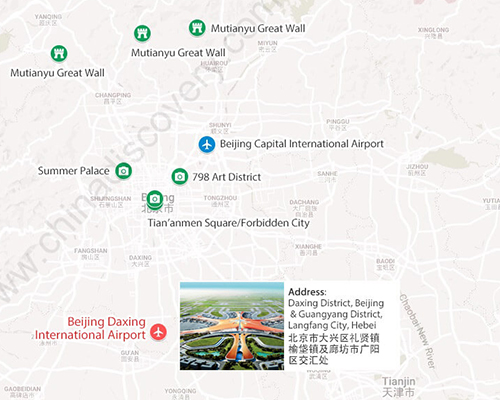 Beijing Daxing International Airport Location Map