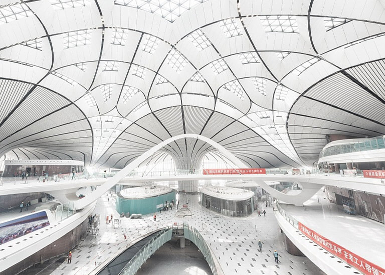 Inside view of Beijing Daxing International Airport