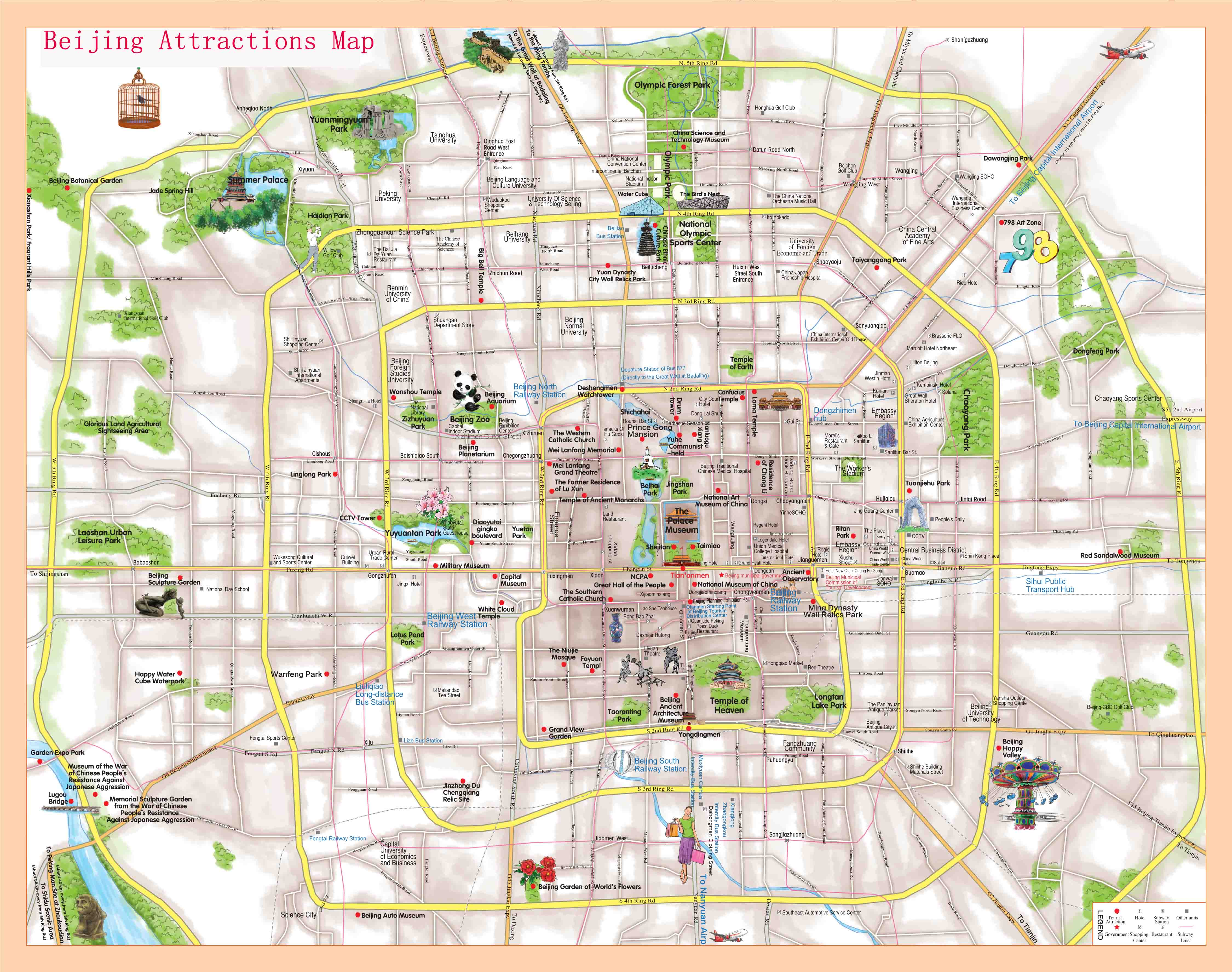 Beijing Attractions Map