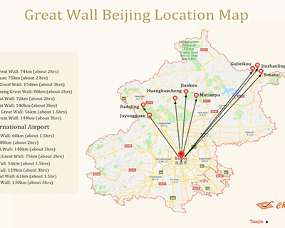 Great Wall of China Location Map