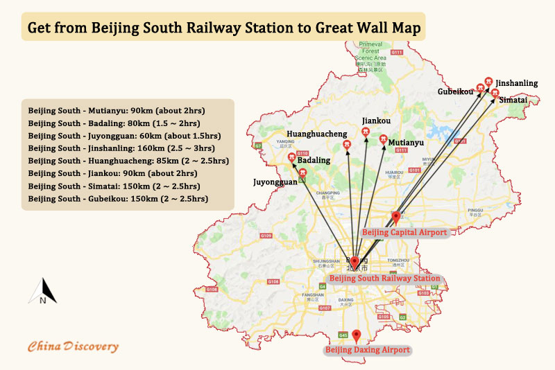 Beijing South Railway Station to Great Wall