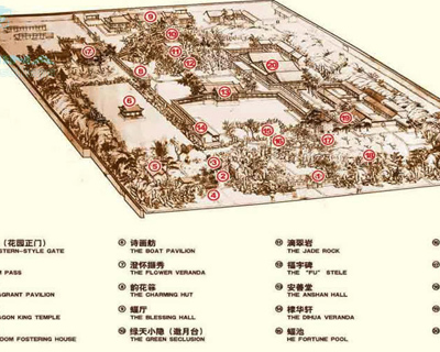 Prince Gong Mansion Map