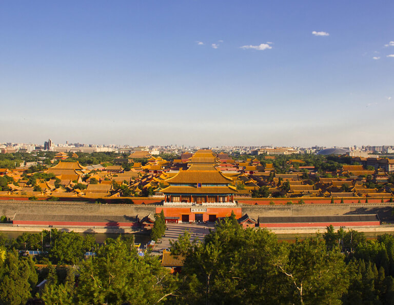 Beijing Fobidden City from Jingshan Park