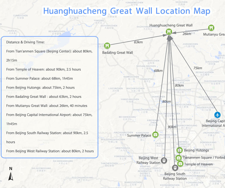 Huanghuacheng Location Map