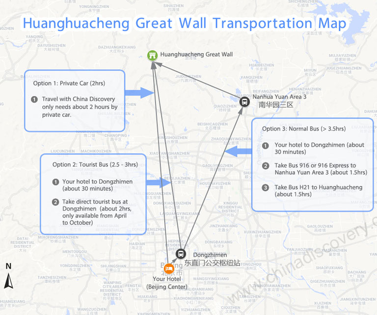Huanghuacheng Transportation Map