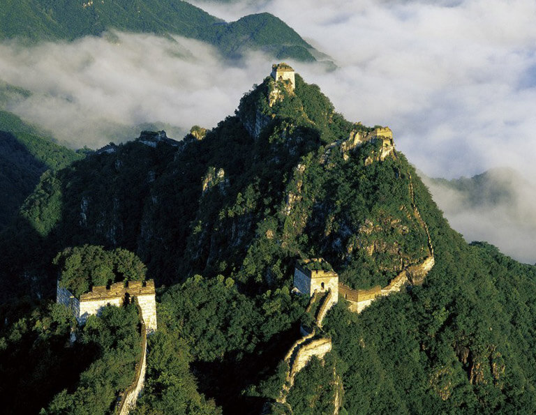Jiankou Great Wall is the steepest section of Great Wall of China