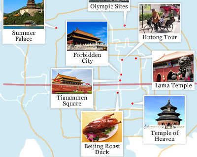 Bejing  Attractions Map