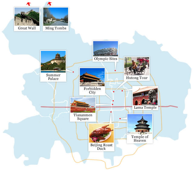 2017 Beijing Maps Beijing China Map Beijing Tourist Map – Beijing Tourist Attractions Map