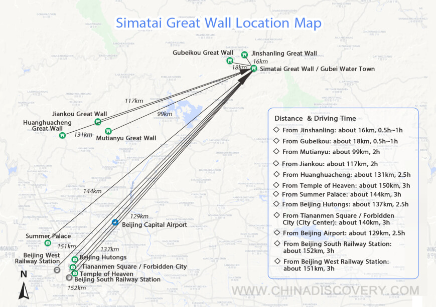 Simatai Great Wall Maps
