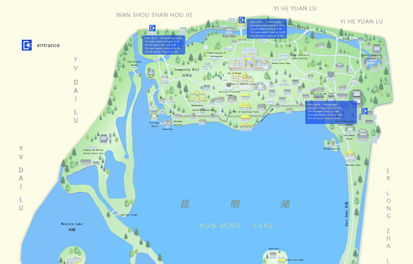 Beijing Summer Palace Map Summer Palace Tourist Map