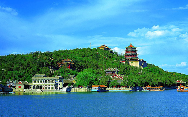Relaxing at the Lakeside in Summer Palace