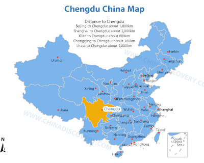 Chengdu Maps, Detailed Chengdu Tourist Maps 2019
