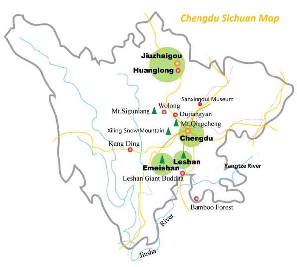 Leshan City Maps, Giant Buddha Tourist Maps 2018