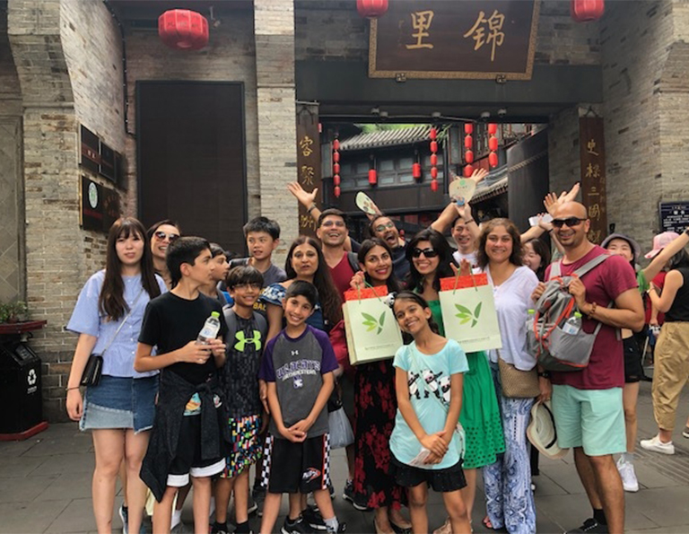 Devika's group from USA visited Jinli