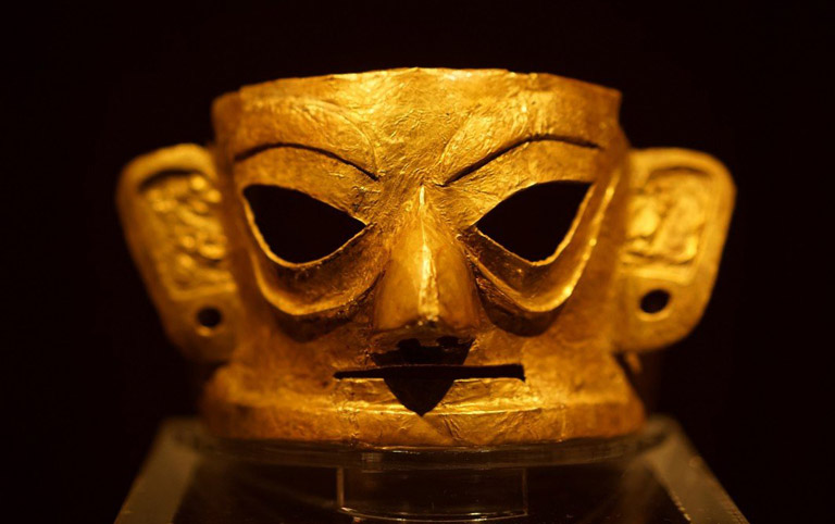 Gold Mask in Jisha Relic Museum