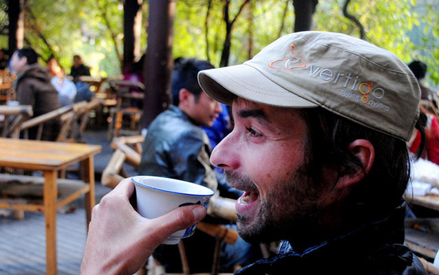 Enjoy a cup of Chinese tea in People's Park