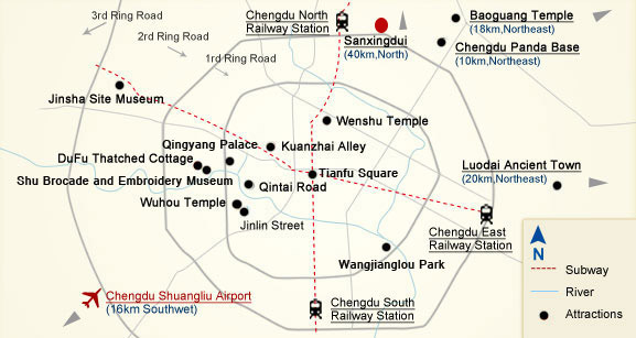 Sanxingdui Museum- Tourist Map
