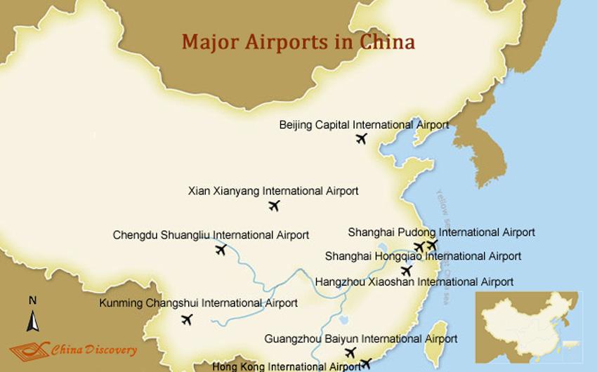 China Airports Major Airports In China China Flights - Major us airport hubs map
