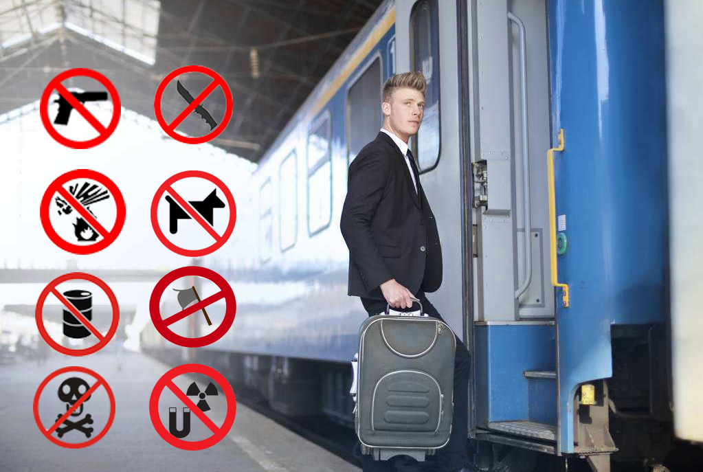 Prohibited Items to Take on Train