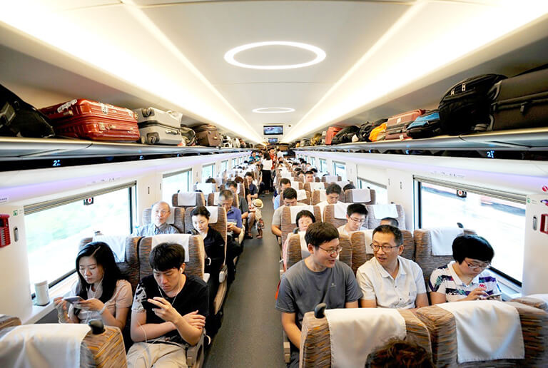 Luggage Area on High Speed Train