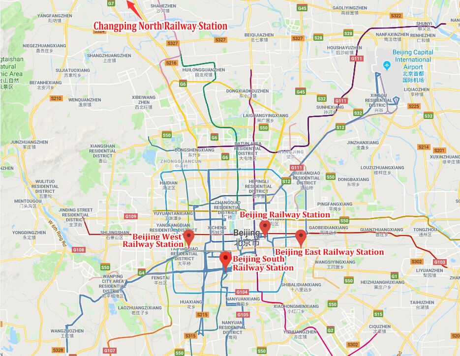 Railway Location Map Beijing Train Stations   Layout, Location, Transportation & High