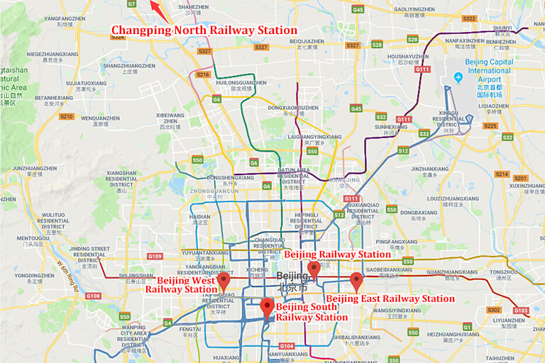 Beijing Railway Station Location Map