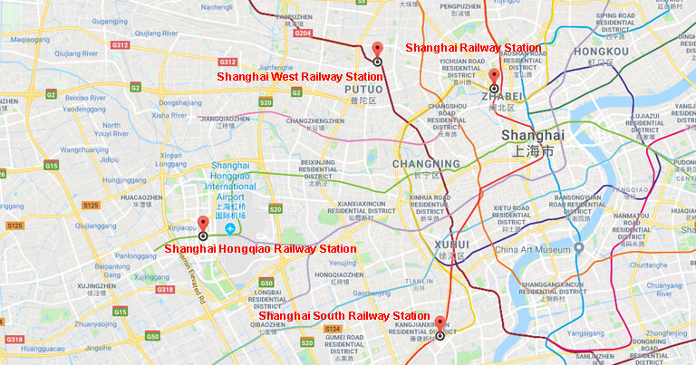 Shanghai Train Stations - High Speed Railway Stations in