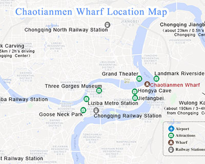 Chaotianmen Dock Location Map