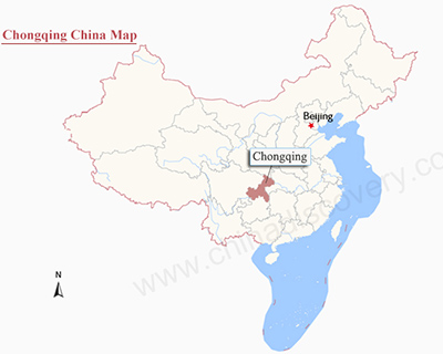 Chongqing China Map