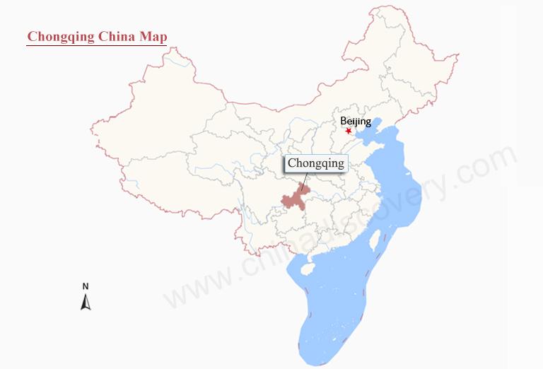 Chongqing Maps detailed China Chongqing Attraction Yangtze Cruise Map